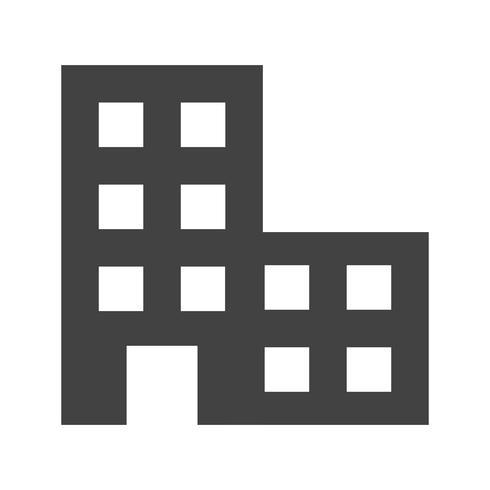 Icona del glifo ufficio nero