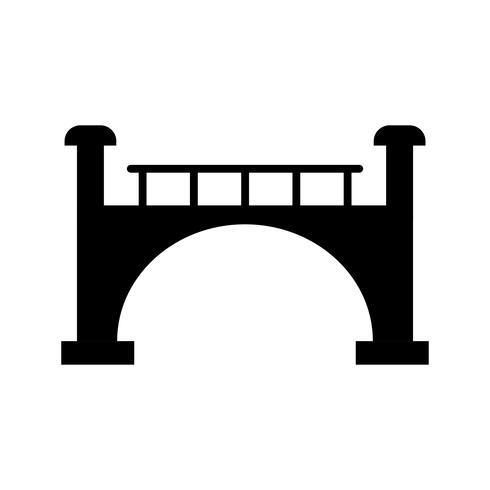 Ícone de Glyph preto ponte