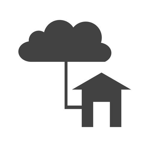 Icono de conexión glifo negro vector