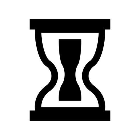Icono de reloj de arena glifo negro vector
