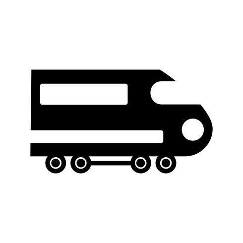 Trein Glyph Black pictogram vector