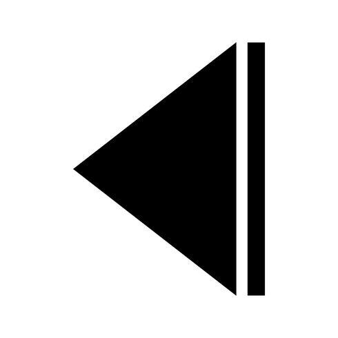 Pijl terug Glyph Black Icon vector