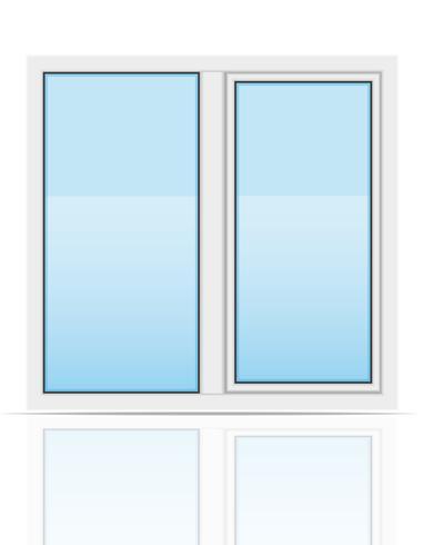 plastic transparant venster weergave buitenshuis vectorillustratie vector