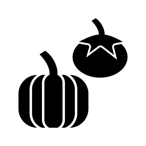 Grönsaker Glyph Black Icon
