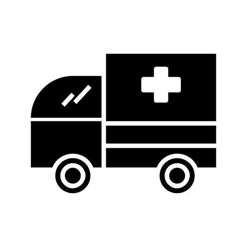 Glyph Ambulance Black Icon