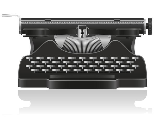 oude schrijfmachine vectorillustratie vector