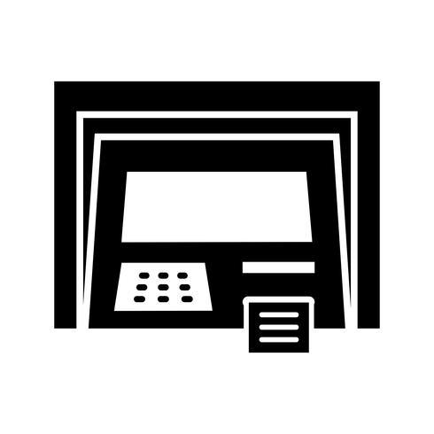 Atm machine Glyph Black Icon