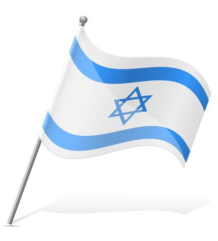 Bandera de Israel ilustración vectorial