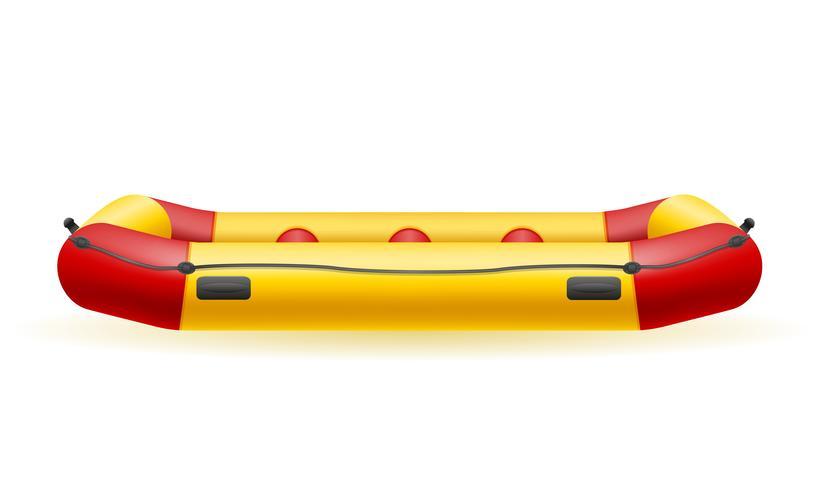 Ilustración de vector de bote de rafting inflable