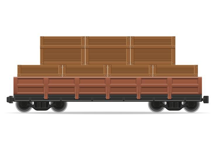 illustrazione di vettore del treno di carrozza ferroviaria