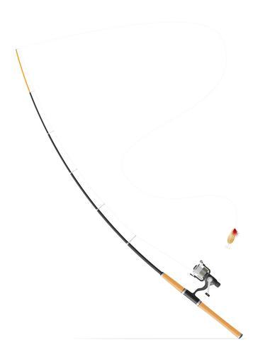 Varilla girando para la pesca ilustración vectorial vector