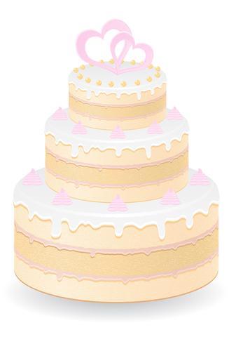 illustration vectorielle de gâteau de mariage vecteur