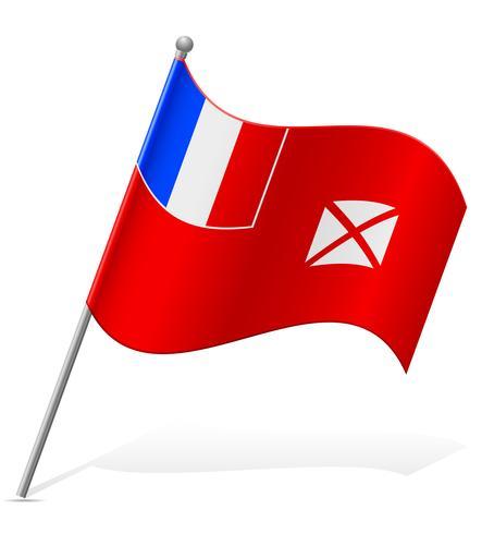 Bandera de Wallis y Futuna ilustración vectorial vector