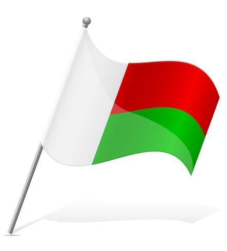 Bandera de Madagascar ilustración vectorial
