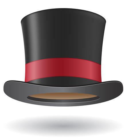 cylinder hat vector illustration