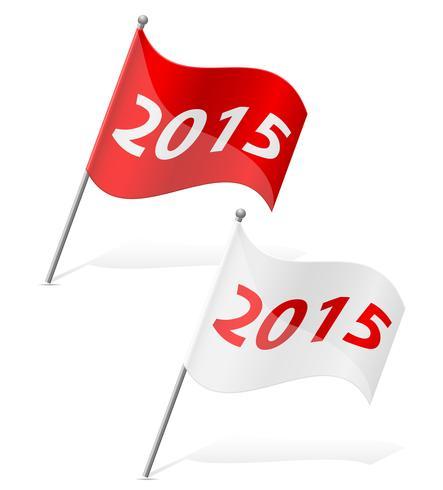 new year flag vector illustration