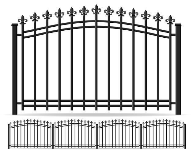 valla de hierro forjado ilustración vectorial vector