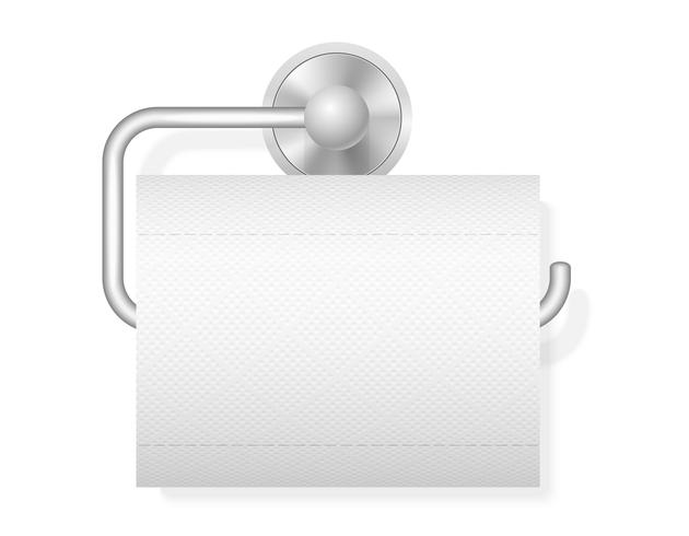 toilet paper on holder vector illustration