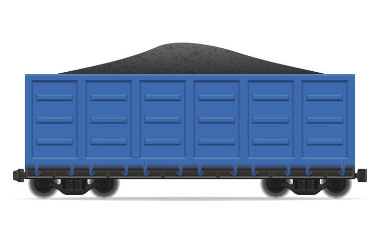 treinwagon trein vectorillustratie vector