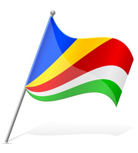 Bandera de Seychelles ilustración vectorial