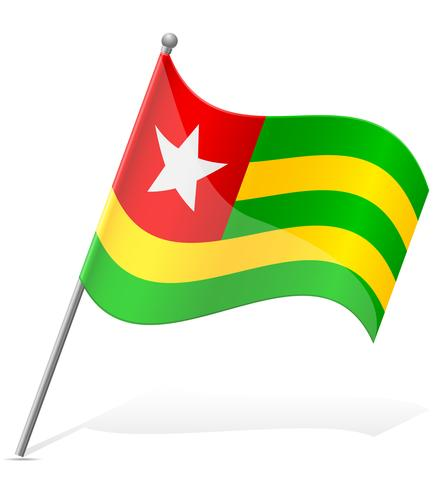 bandiera del Togo illustrazione vettoriale