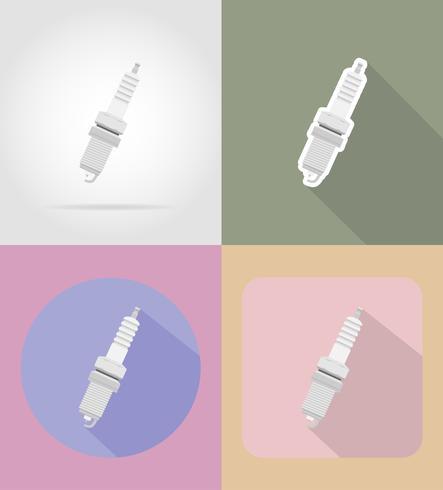 icone piane di auto scintilla illustrazione vettoriale