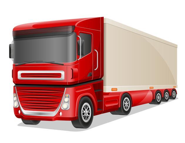 große rote LKW-Vektorillustration