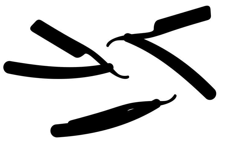 définir des icônes illustration vectorielle de rasoir silhouette noire vecteur