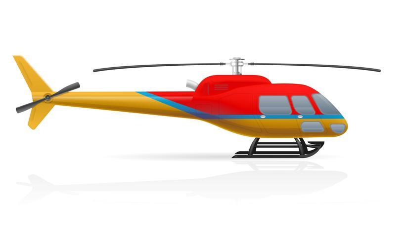 illustrazione vettoriale civile elicottero passeggeri