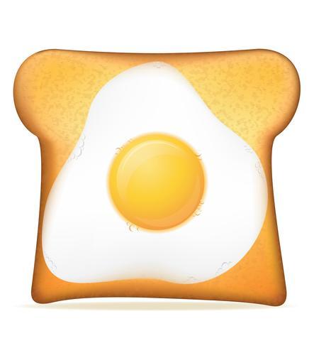 torrada com ilustração vetorial de ovo