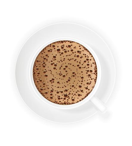 xícara de café crema vector illustration