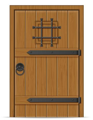 oude houten deur vectorillustratie vector