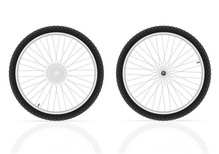 illustration vectorielle de roues de vélo