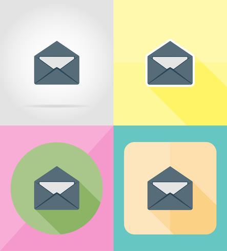 lettre mail pour design icônes plates vector illustration
