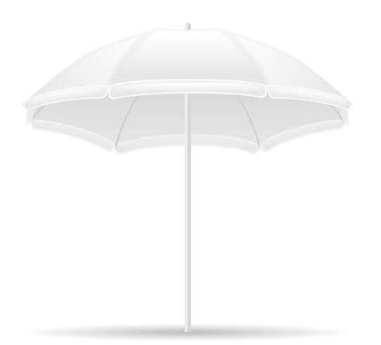 illustration vectorielle de plage parapluie