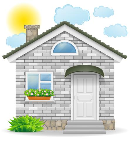 small country house vector illustration