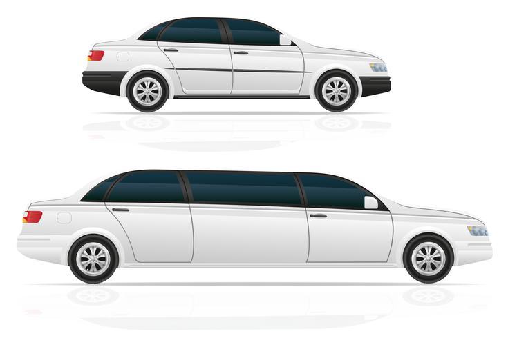 bil sedan och limousine vektor illustration