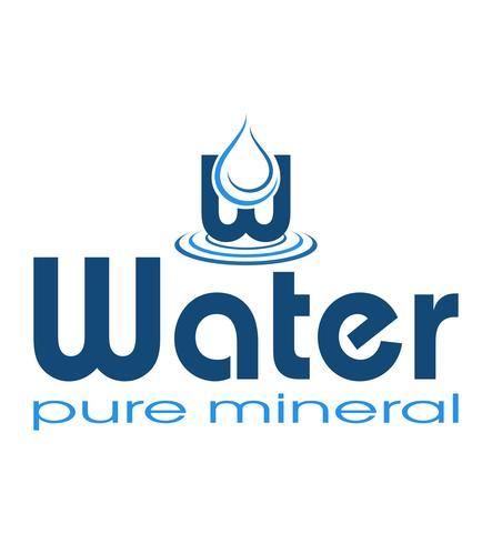 logo mineral water vector illustration