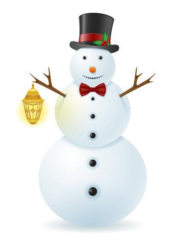 sneeuwpop vector illustratie
