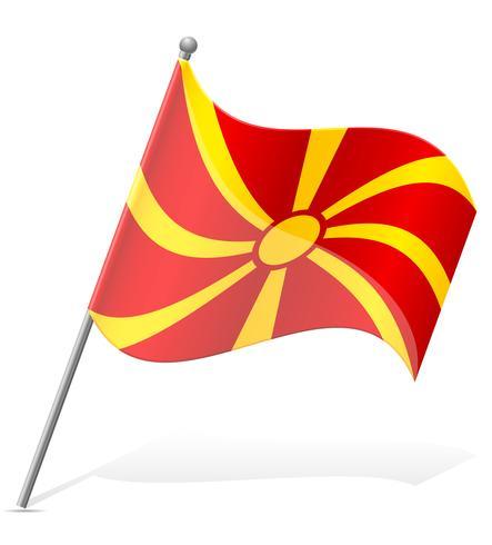flagga Makedonien vektor illustration