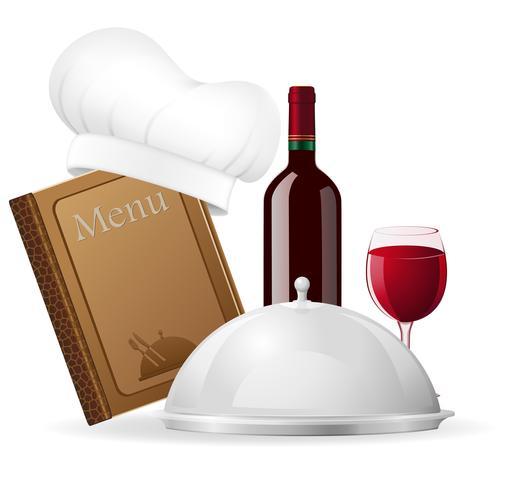 Ange ikoner för restaurang vektor illustration