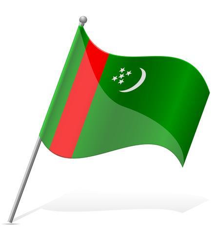 Bandera de Turkmenistán ilustración vectorial