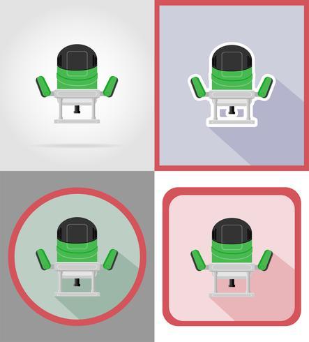 elektrisk kvarn verktyg för konstruktion och reparation platt ikoner vektor illustration