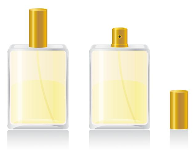 parfums in fles vectorillustratie vector