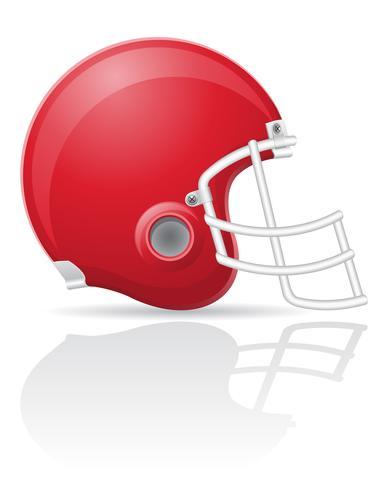 Ilustración de vector de fútbol americano helment