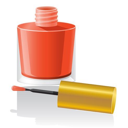 Ilustración de vector de esmalte de uñas