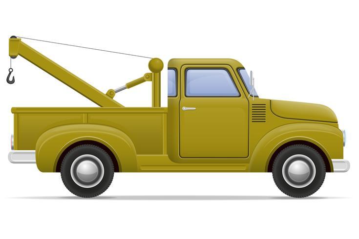 oude retro auto pick-up vectorillustratie