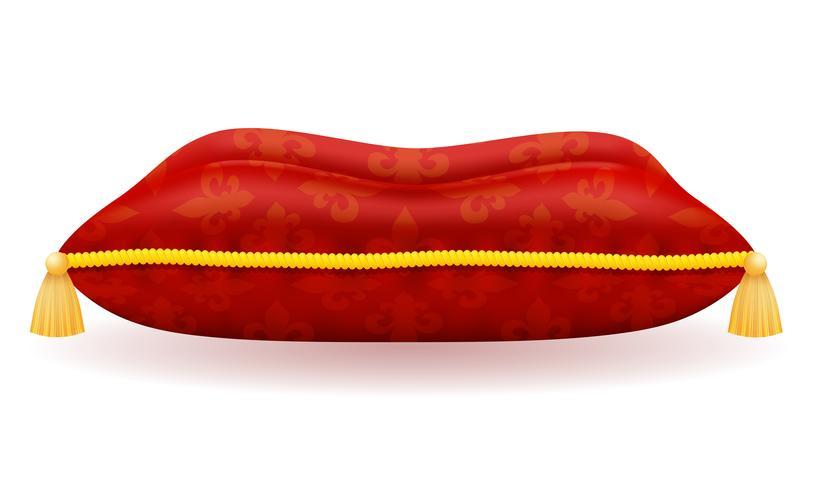rood satijn kussen vectorillustratie