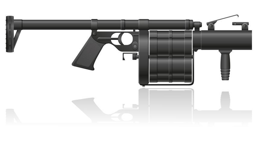 ilustración vectorial de granada-pistola vector