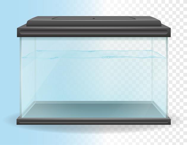 illustration vectorielle d'aquarium transparent vecteur